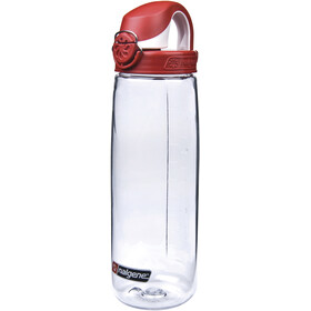 Nalgene Everyday OTF Juomapullo 700ml, transparent/red